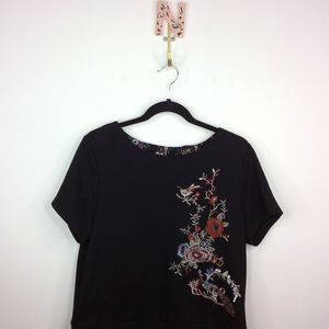 Anthropologie W5 Embroidered Floral Tee